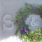Svatební písmena se jmény a datem svatby