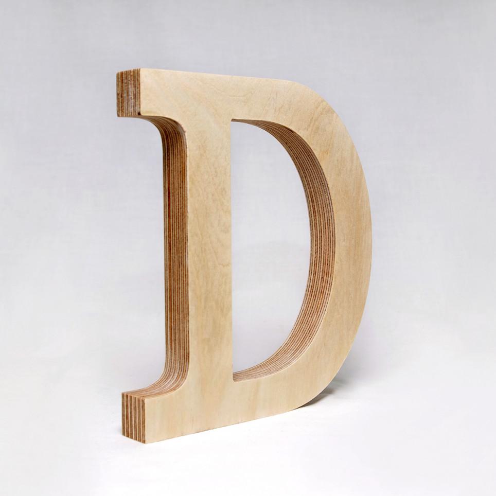 D dřevěné písmeno