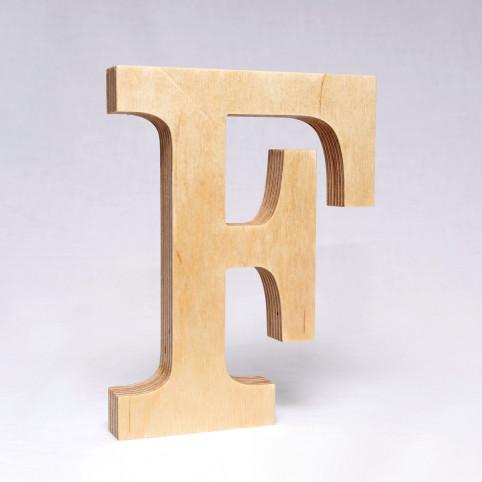F dřevěné písmeno