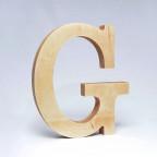 G dřevěné písmeno