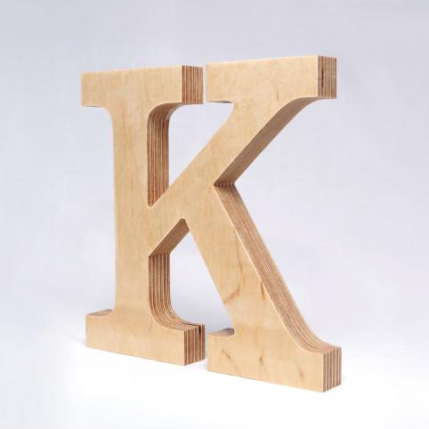 K dřevěné písmeno