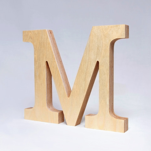 M dřevěné písmeno