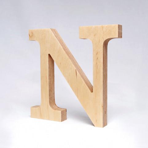 N dřevěné písmeno