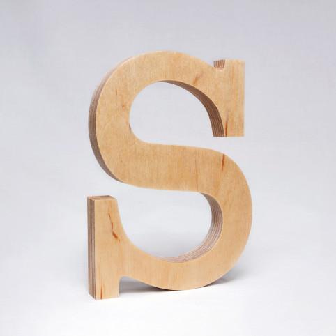 S dřevěné písmeno