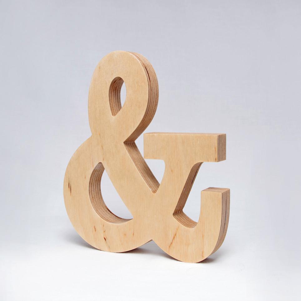 & dřevěný symbol