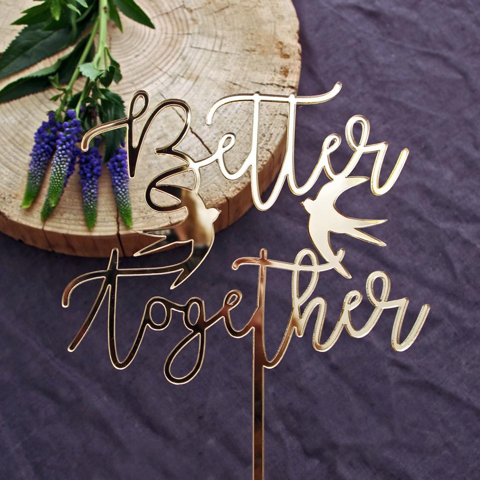 Better together - dortový zápich