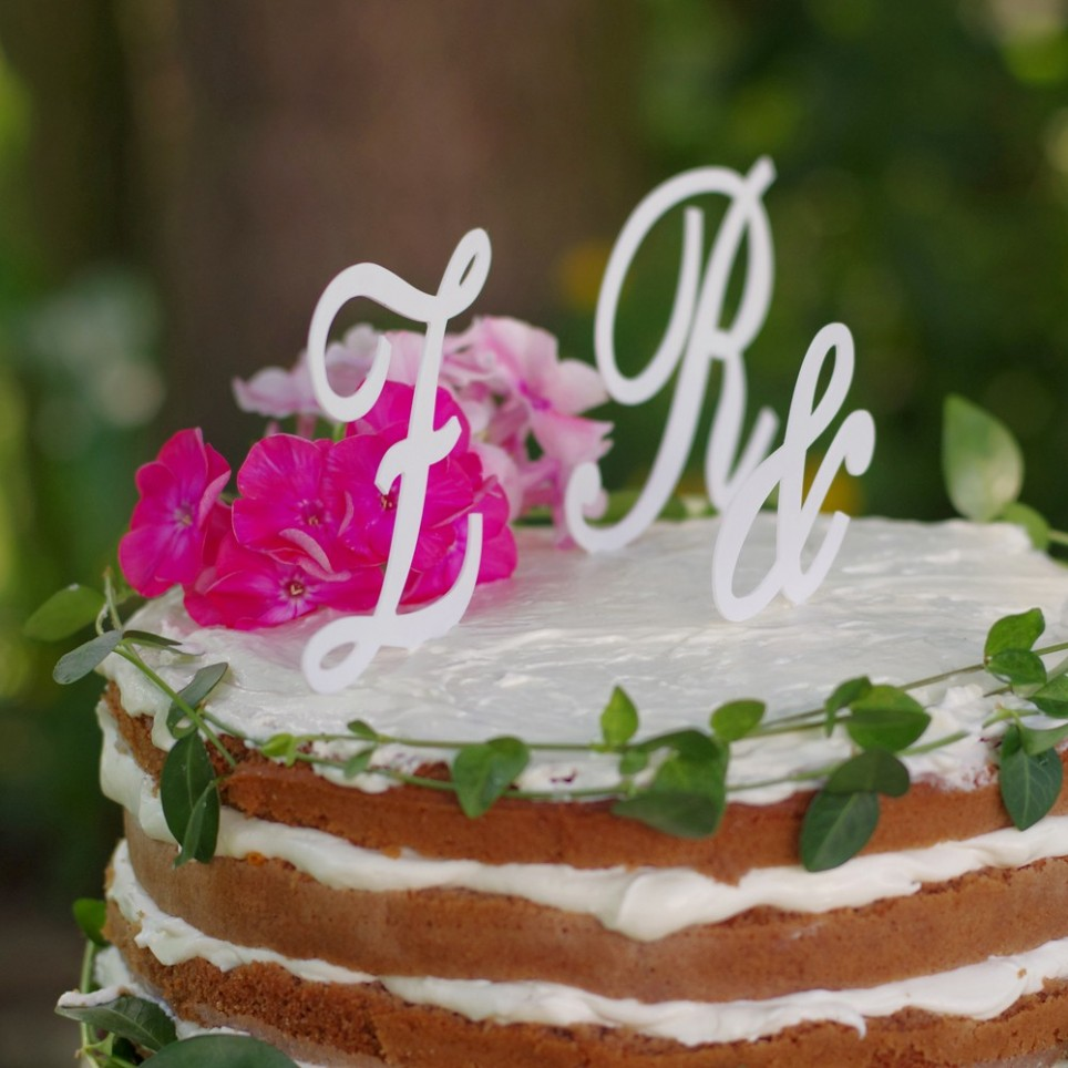 """Svatební iniciály """"zápich na dort"""""""