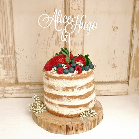 JMÉNA ŽENICHA A NEVĚSTY zápich na dort