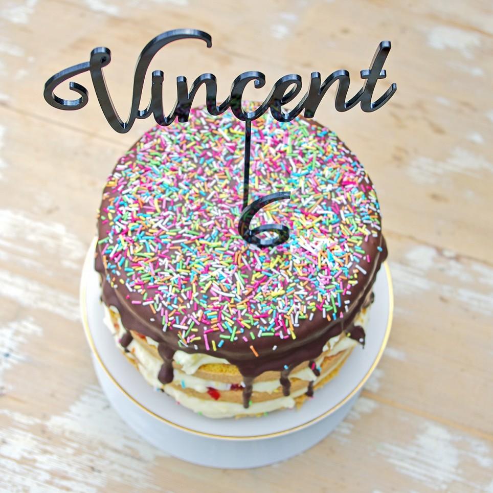 JMÉNO A ČÍSLICE zápich na dort