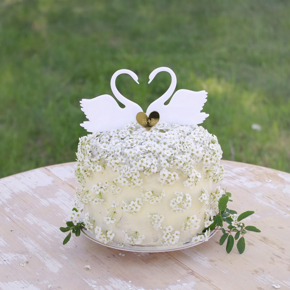 LABUTÍ LÁSKA zápich na dort