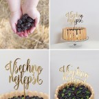 VŠECHNO NEJLEPŠÍ zápich na dort
