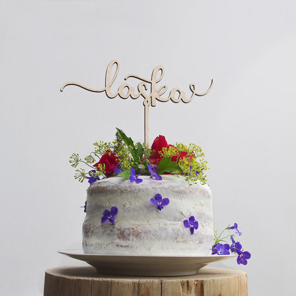 LÁSKA zápich na dort