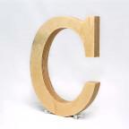 C dřevěné písmeno