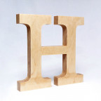H dřevěné písmeno