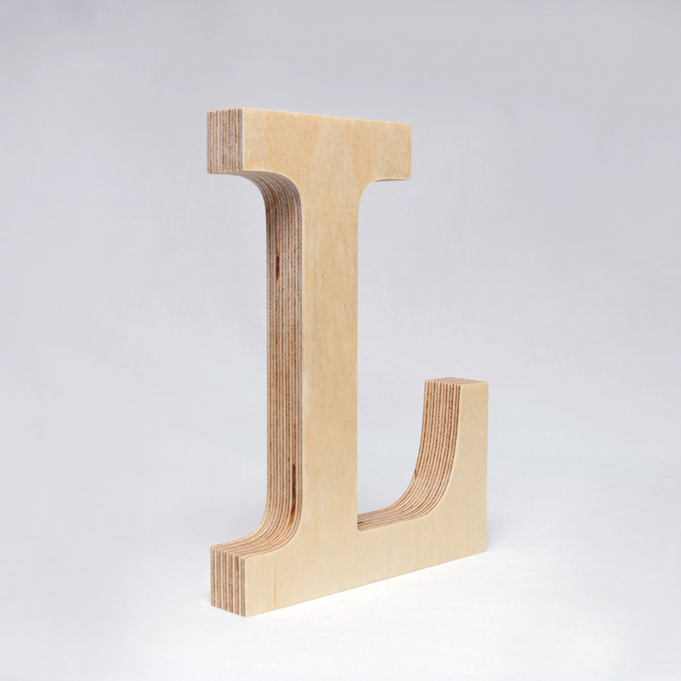 L dřevěné písmeno