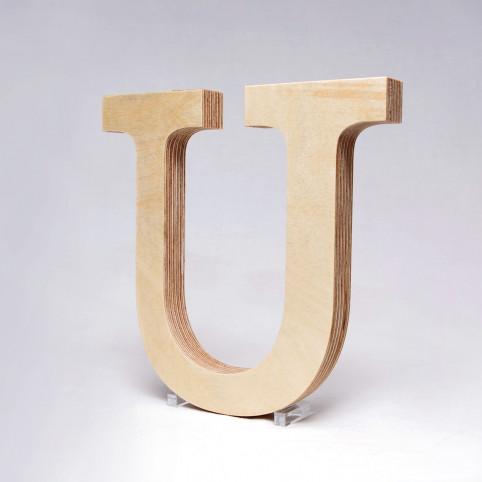 U dřevěné písmeno