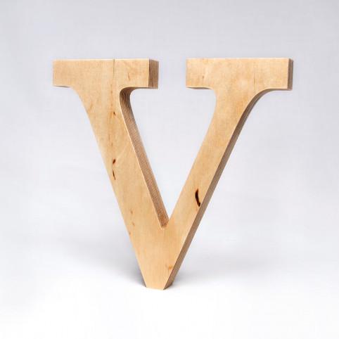 V dřevěné písmeno