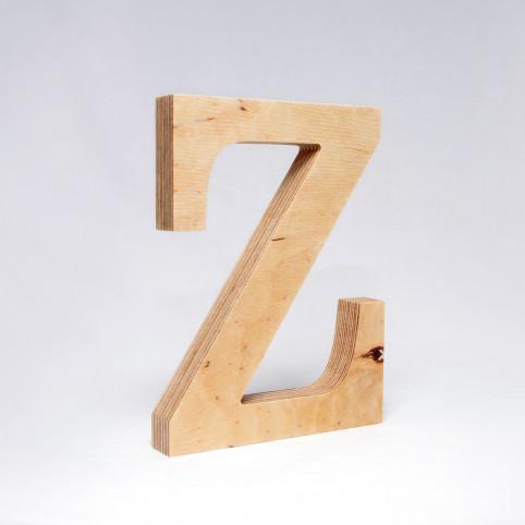 Z dřevěné písmeno