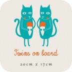 Twins on board - cats