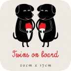 Twins on board - dogs