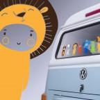 """""""lev"""" ZOO v autě"""